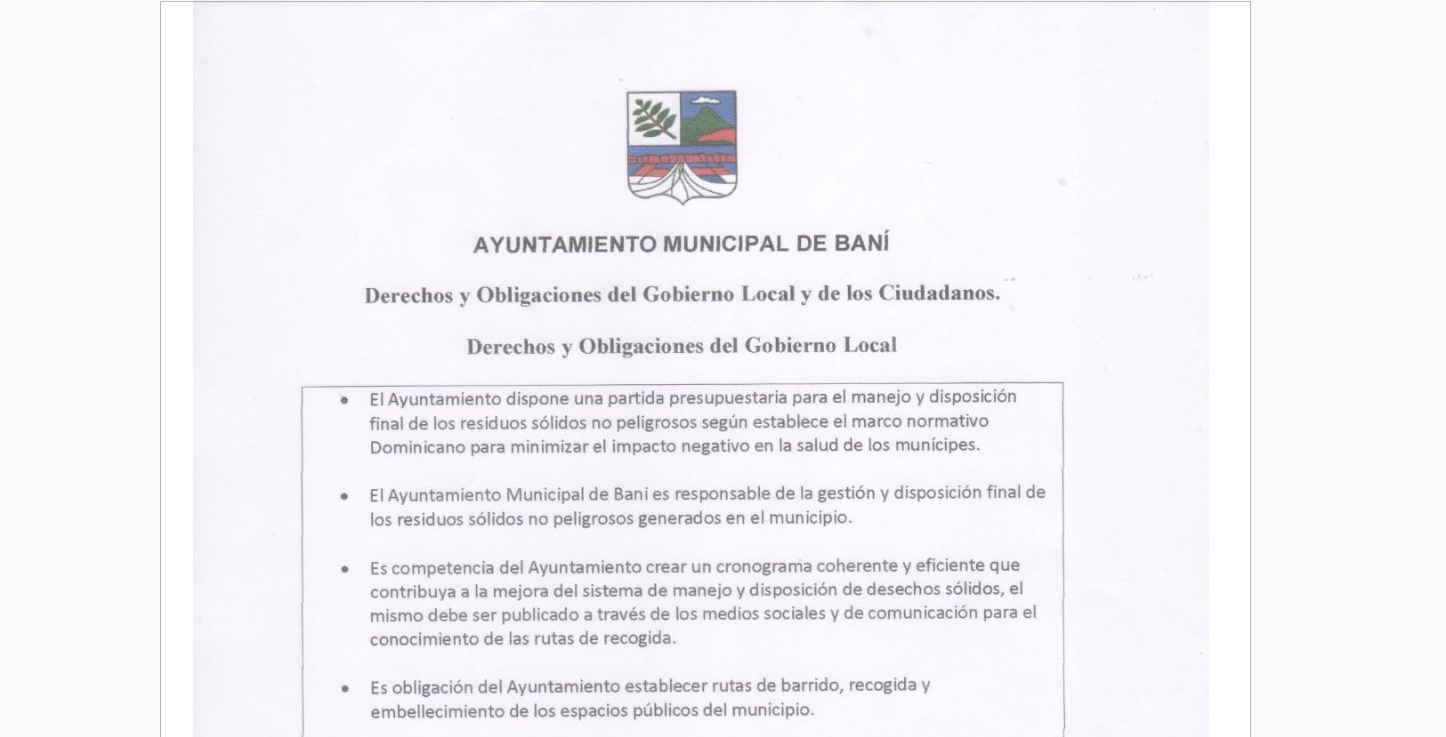 Derechos y Obligaciones del Gobierno Local y de los Ciudadanos